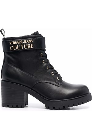 Versace WOMEN Chunky-heel lace-up boots