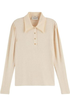 Scotch and Soda Scotch & Soda Fitted Double Collar Long-Sleeved T-Shirt