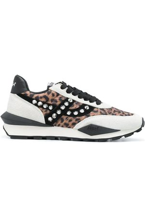 Ash Spider Leopard Trainers