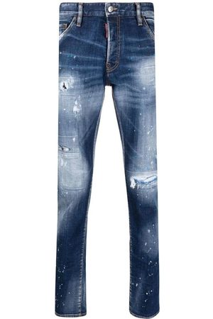 Dsquared2 Men's Navy Cool Guy distressed slim-cut jeans