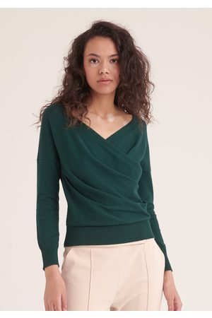 Paisie Knitted Wrap Top with Long Sleeves