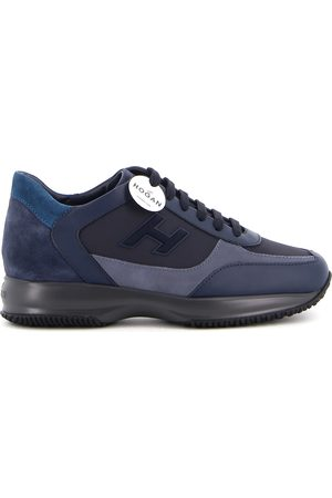 Hogan INTERACTIVE LEATHER AND SUEDE SNEAKERS
