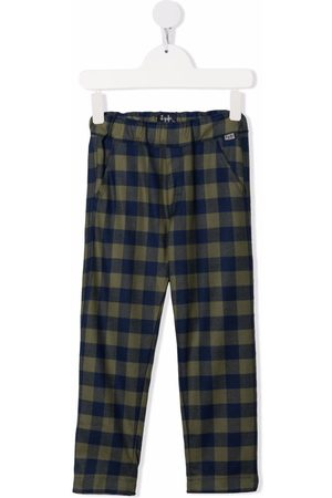 Il gufo Check-pattern elasticated trousers