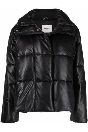 MAX & MOI Leather padded-design jacket