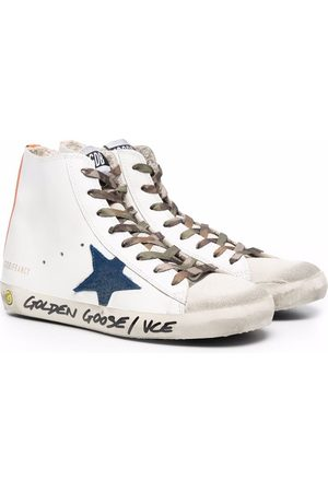 Golden Goose Logo-patch high-top leather sneakers
