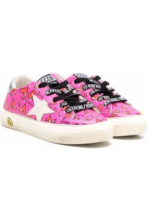 Golden Goose Heart-print leather sneakers
