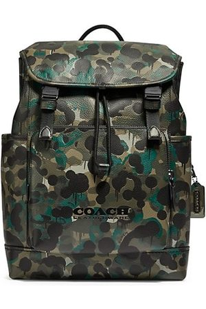 Coach League Grained Leather Backpack