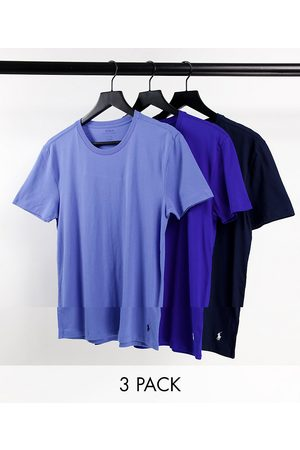 Polo Ralph Lauren 3 pack t-shirts with pony logo in /blue/light blue