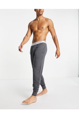 Polo Ralph Lauren Lounge jogger with logo waistband in charcoal