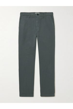 Mr P. Cotton and Linen-Blend Twill Chinos