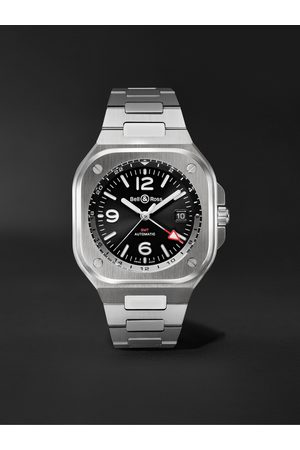 Bell & Ross Men Watches - GMT Automatic 41mm Stainless Steel Watch, Ref. No. BR05G-BL-ST/SST