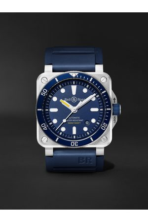 Bell & Ross Men Watches - BR 03-92 Diver Automatic 42mm Stainless Steel and Rubber Watch, Ref. No. BR0392-D-BU-ST/SRB