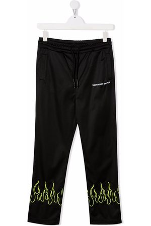 Vision Of Super Pants - TEEN flame-pattern trousers