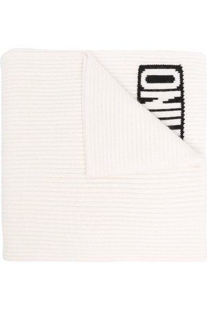 Moschino Men Scarves - Logo-knit ribbed scarf