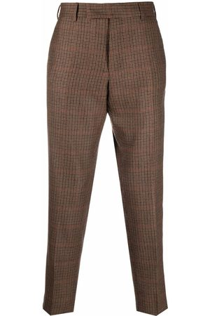 PT01 Checked virgin wool trousers