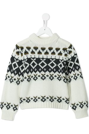 BONPOINT Girls Jumpers - Round neck knitted jumper