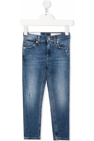 Dondup Boys Jeans - Logo-patch faded-effect jeans