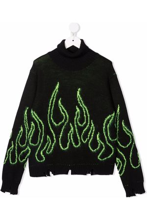 Vision Of Super Boys Tops - Flame-stitching rollneck sweater