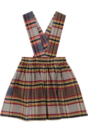 PAADE Checked cotton pinafore skirt