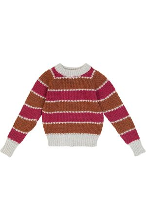 PAADE Girls Tops - Striped wool-blend knit sweater