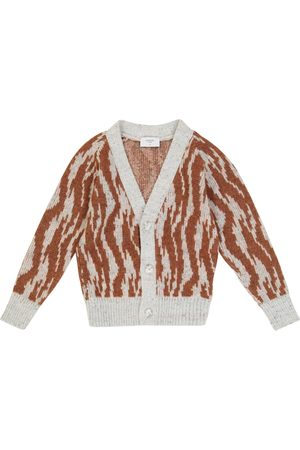 PAADE Jacquard wool and cotton-blend cardigan