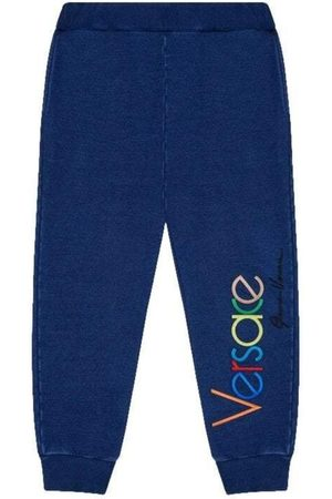 VERSACE Men Tracksuit - Boys Embroidered Joggers - 10 YEARS