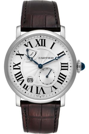 Cartier Rotonde Silver Dial White Gold Mens Watch W1556202