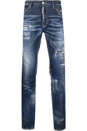 Dsquared2 Men's Distressed Bootcut Jeans Navy - 32W NAVY