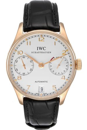 IWC Portuguese Chrono 7 Day 18K Rose Gold Mens Watch Iw500004