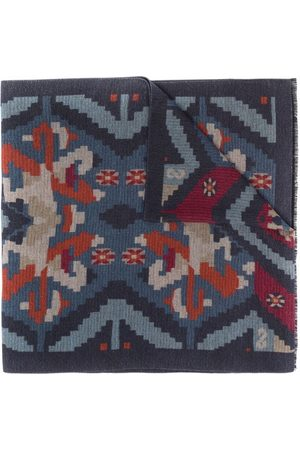 Kiton Graphic Print Knitted Scarf