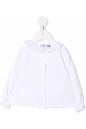 KNOT Ruffle-collar long-sleeved blouse
