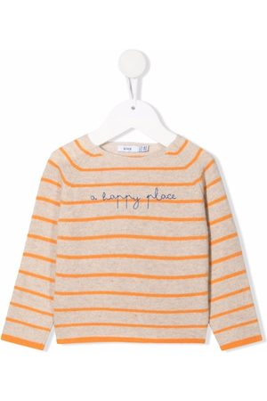 KNOT Embroidered-slogan long-sleeved sweater