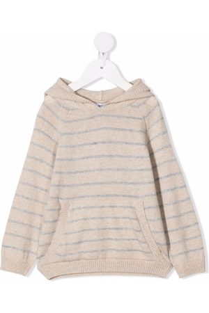 KNOT Striped knit hoodie