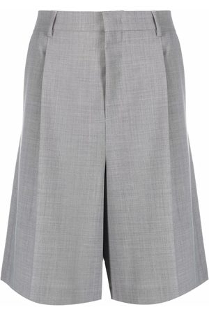 A BETTER MISTAKE Pressed-crease knee-length tailored shorts