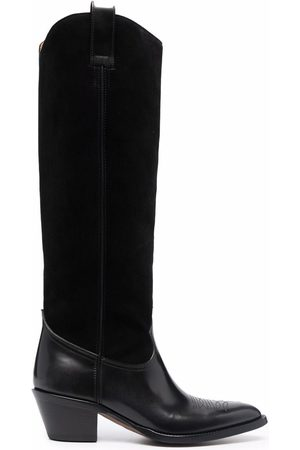 Buttero Pointed-toe knee-length boots