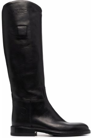 Buttero Knee-length leather boots