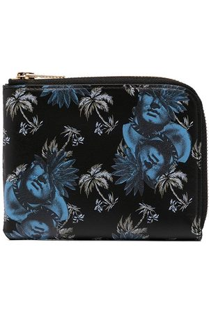 UNDERCOVER Graphic-print leather wallet