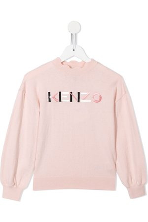 Kenzo Logo-embroidered knitted jumper