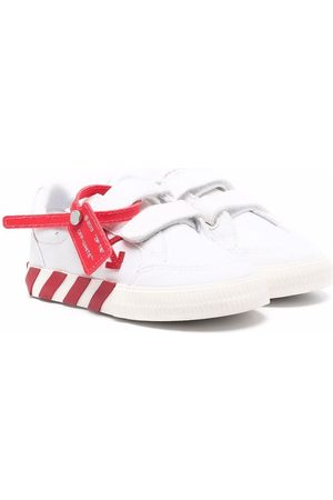OFF-WHITE LOW STRAP VULCANIZED CANVAS RED