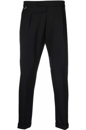 LOW BRAND Pressed-crease virgin wool-blend tailored trousers