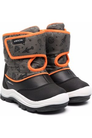 Geox B Flanfil graphic-print ankle boots