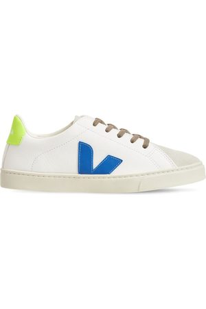 Veja Chrome-free Leather Lace-up Sneakers