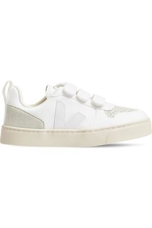 Veja Boys Sneakers - V-10 Cotton & Faux Suede Strap Sneakers