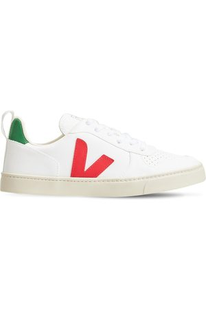 Veja Boys Sneakers - V-10 Cotton Lace-up Sneakers