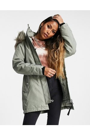 ONLY Parka with faux fur lined hood in