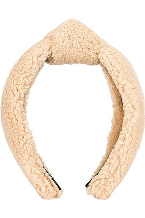 Lele Sadoughi Teddy Knotted Headband in Camel