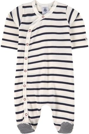Petit Bateau Striped Footed Baby Body