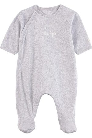 Petit Bateau Gray Mon Lapin Footed Baby Body