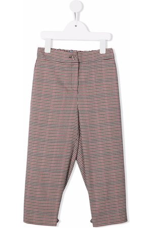Mimisol Houndstooth-check straight leg trousers
