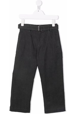 Nº21 Belted straight-legged trousers